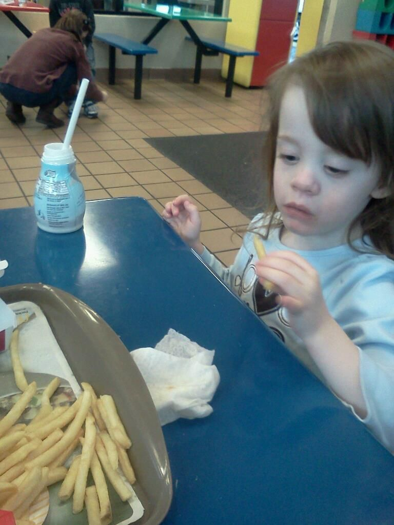 Margaret Eating Fries